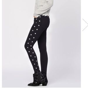 Black orchid Jude super skinny with stars black 25